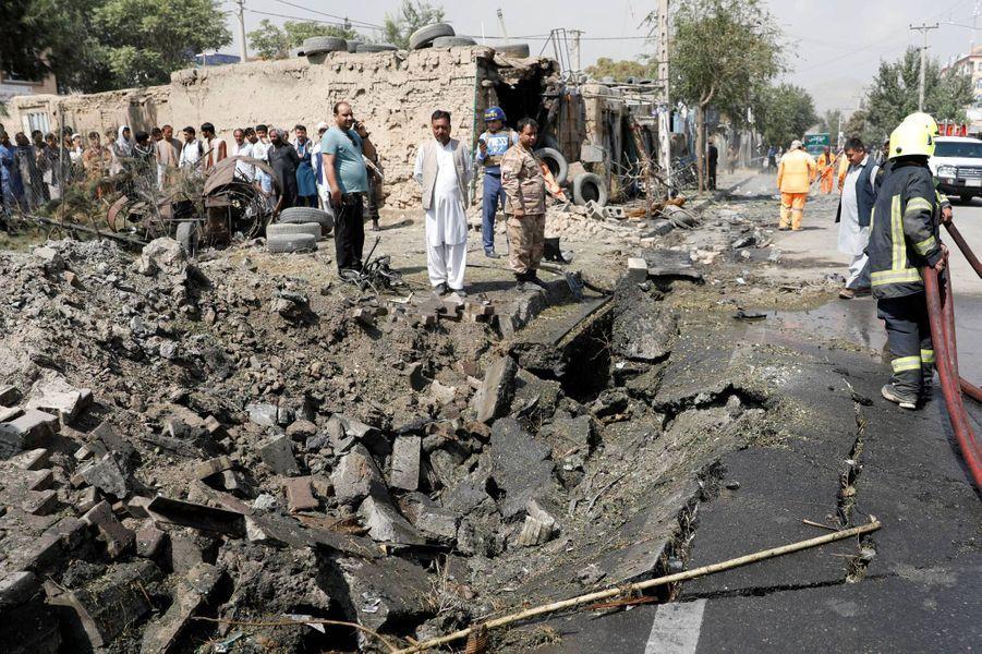 Une attaque a visé le convoi du vice-président Amrullah Saleh à Kaboul, en Afghanistan, le 9 septembre 2020.