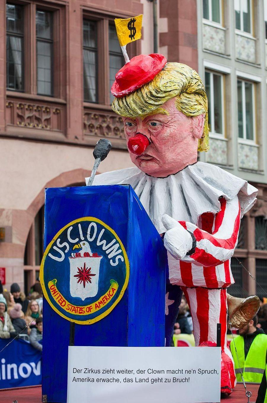 Au carnaval de Francfort, en Allemagne, le 3 mars 2019.