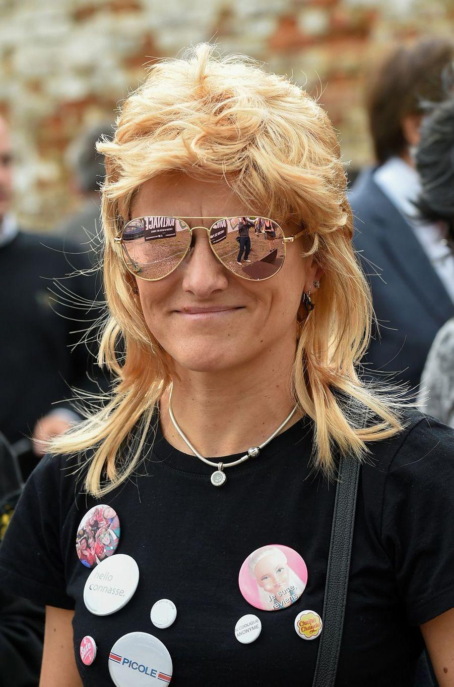 Une participante au festival dédié à la coupe mulet, organisé àBoussu samedi.