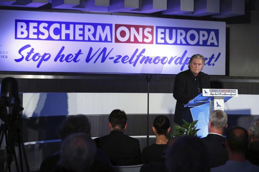 Steve Bannon à Bruxelles, le 8 décembre 2018.