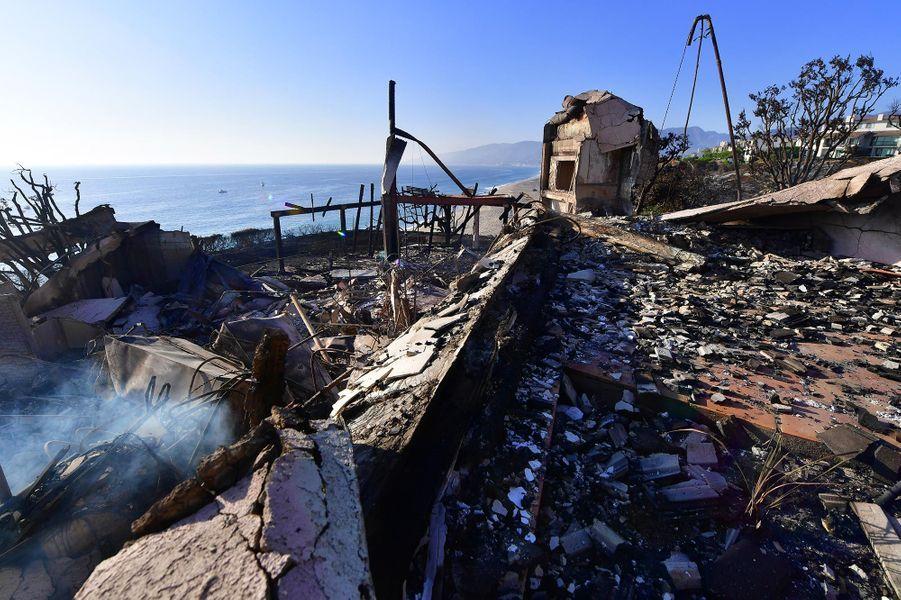 Dégâts causés par le «Woolsey Fire» à Malibu, le 11 novembre 2018.