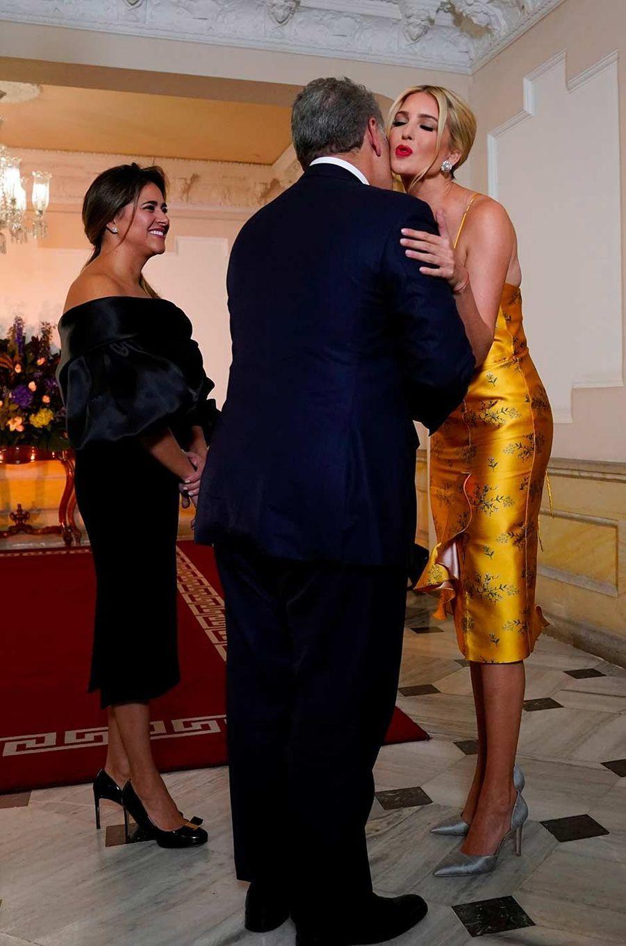 Ivanka Trump reçue par le président Ivan Duque à Bogota, en Colombie, le 3 septembre 2019.