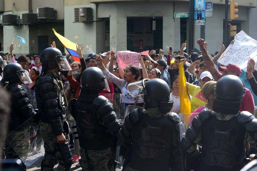 Manifestation à Quito, en Equateur, le 9 octobre 2019.