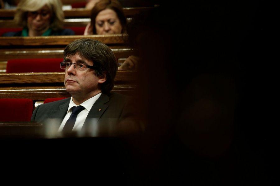 Carles Puigdemont à Barcelone, le 26 octobre 2017.