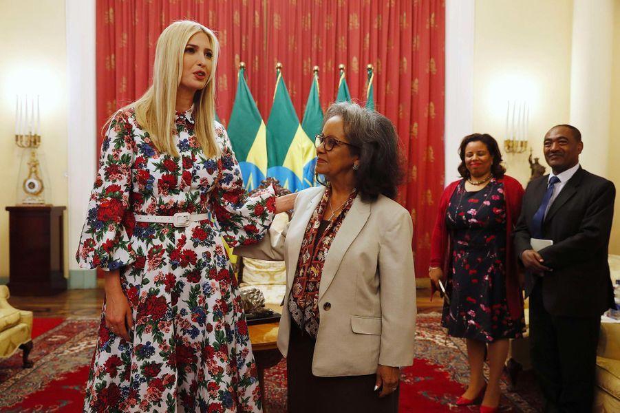 Ivanka Trump et la présidente éthiopienneSahle-Work Zewde à Addis-Abeba, en Ethiopie, le 14 avril 2019.