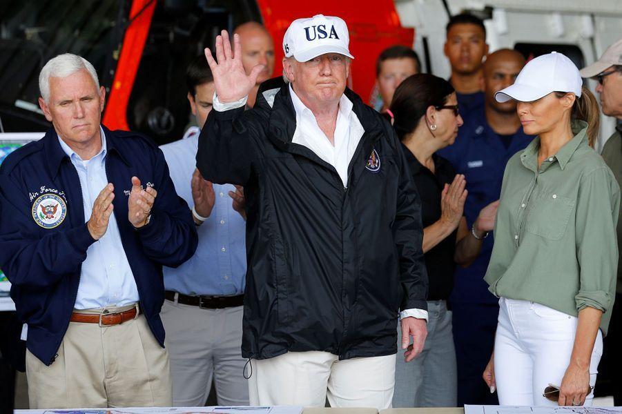 Donald et Melania Trump en Floride, le 14 septembre 2017.
