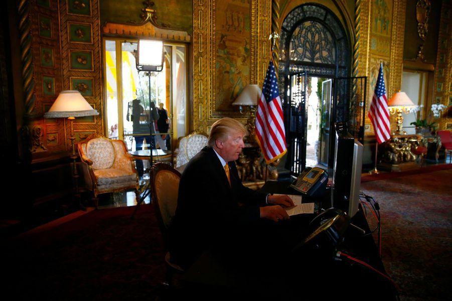Donald Trump à Mar-a-Lago, en Floride, le 23 novembre 2017.