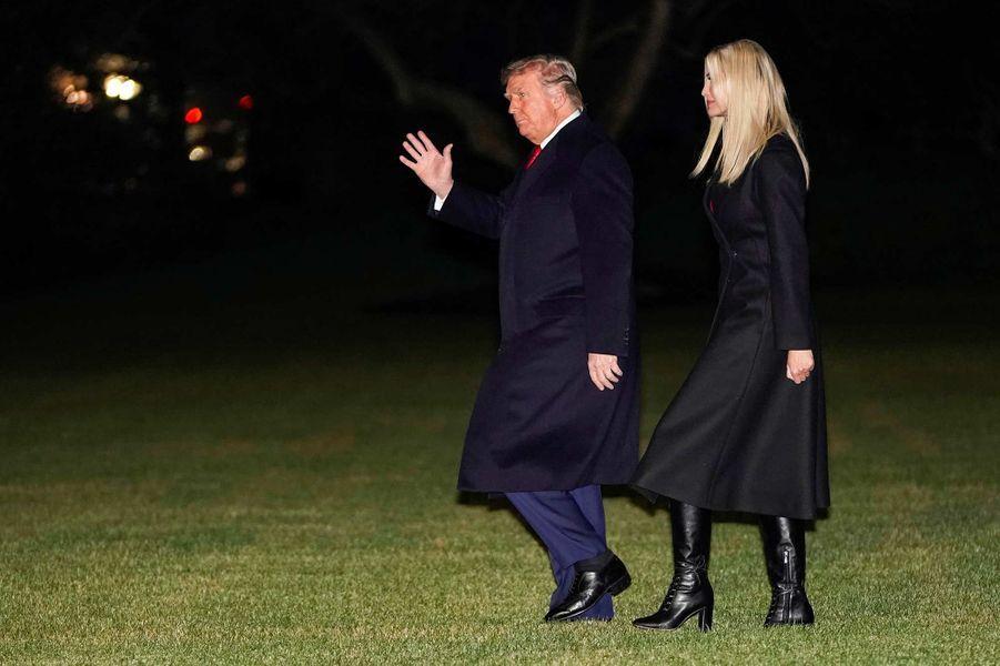 Donald en Ivanka Trump en route pour Dalton, en Géorgie, le 4 janvier 2021.