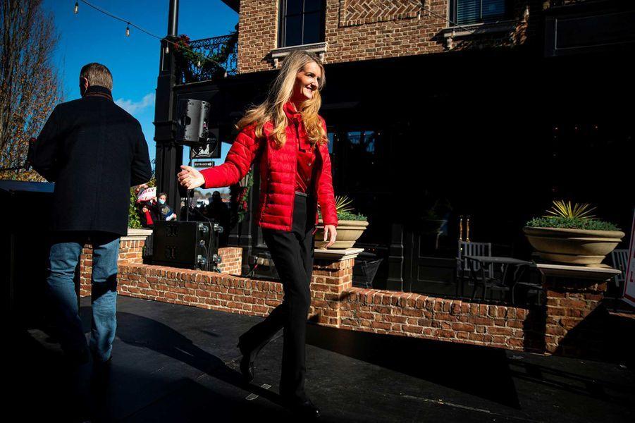 Ivanka Trump en campagne pour les candidats républicains Kelly Loeffler et David Perdue à Milton, en Géorgie, le 21 décembre 2020.