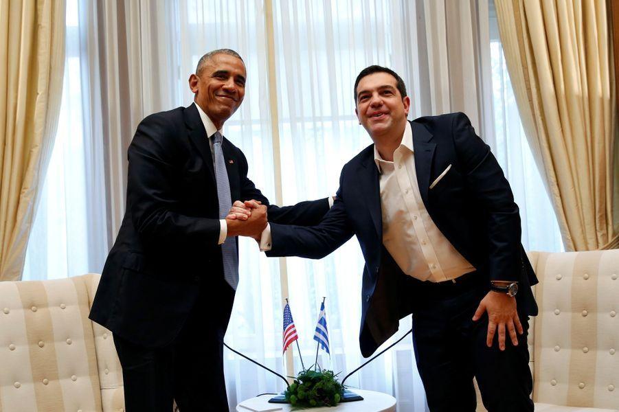 Barack Obama et Alexis Tsipras à Athènes, le 15 novembre 2016.
