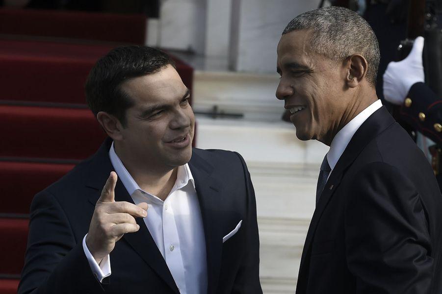 Alexis Tsipras et Barack Obama à Athènes, le 15 novembre 2016.