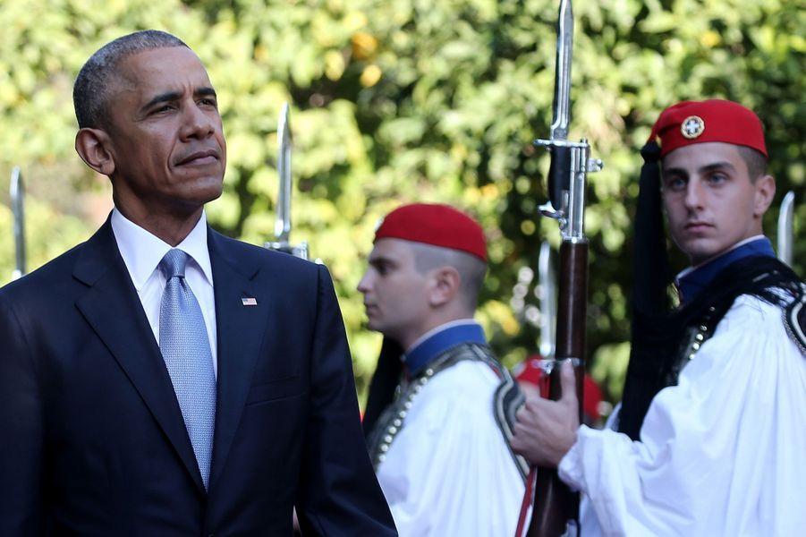 Barack Obama à Athènes, le 15 novembre 2016.