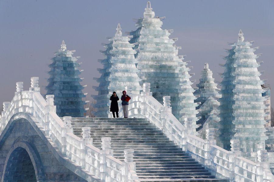 LeFestival international de glace et de neige d'Harbin se tient jusqu'au 28 février.