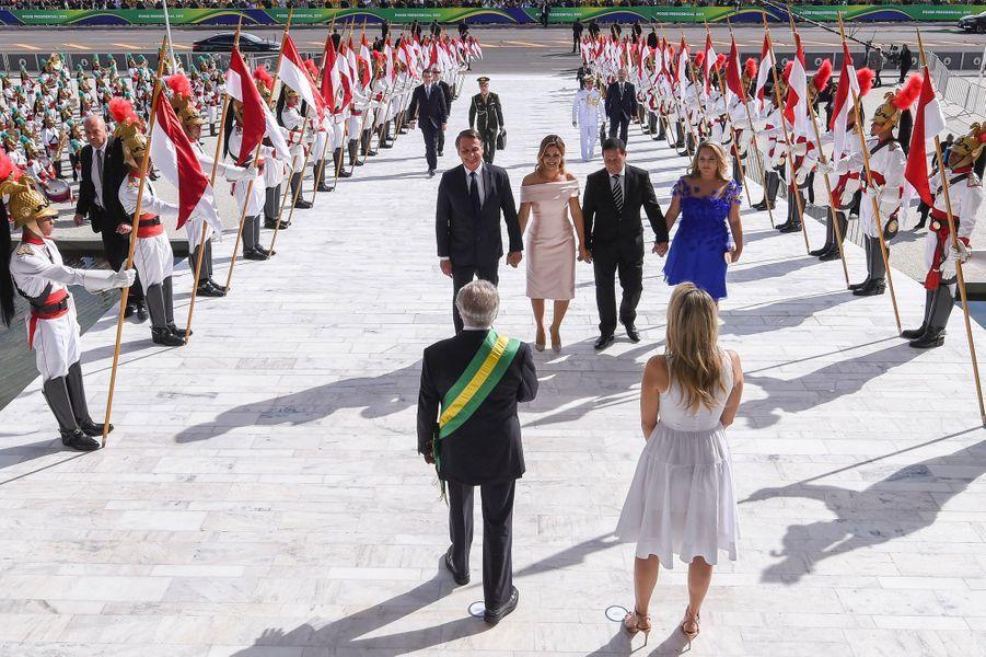 Jair Bolsonaro, intronisé président du Brésil, le 1er janvier 2019 à Brasilia.