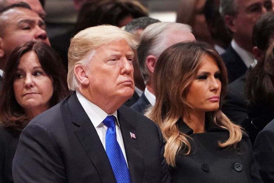 Donald et Melania Trump à Washington le 5 décembre 2018