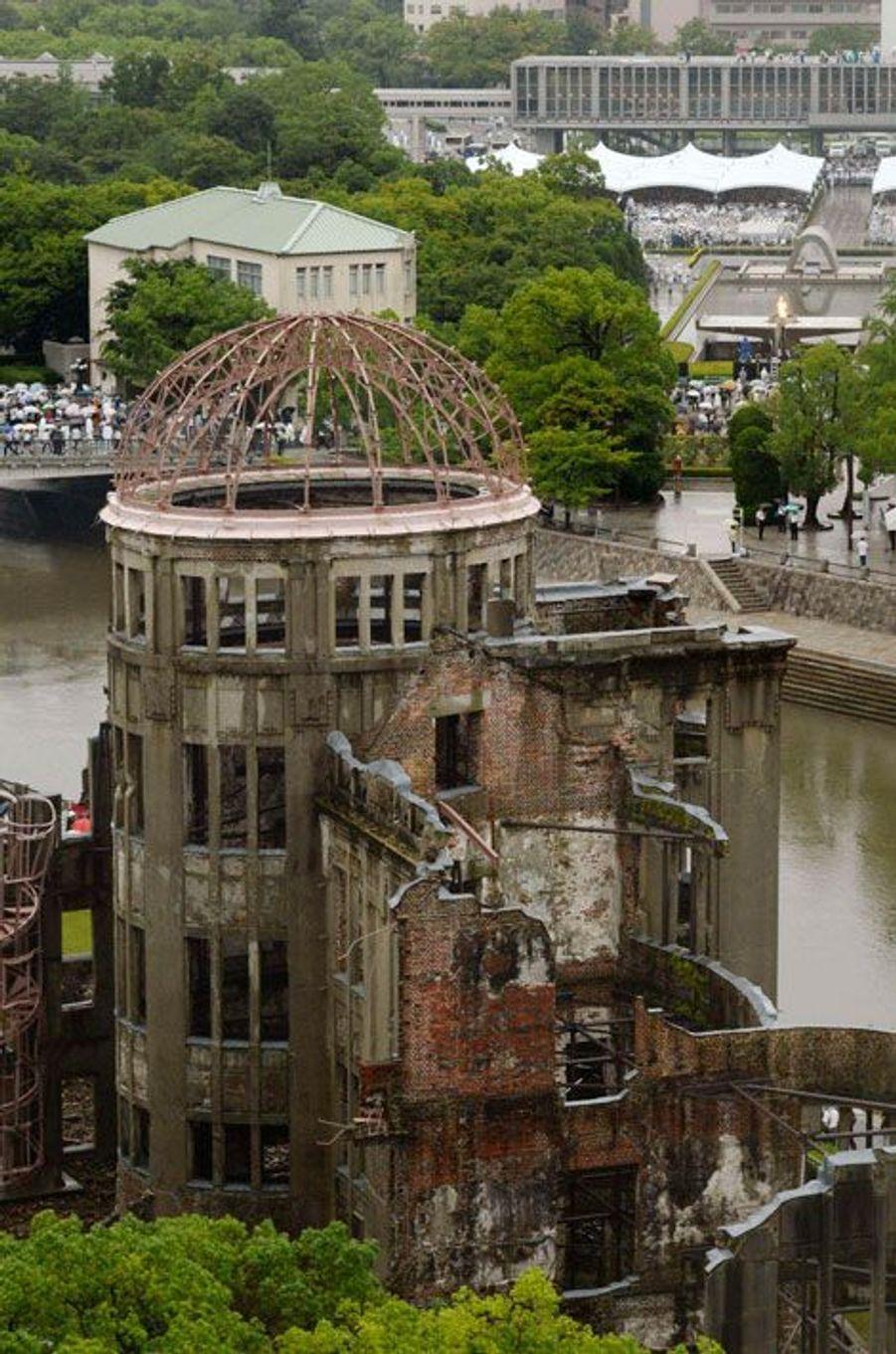Le dôme de Genbaku, vestige de l'ancienne ville d'Hiroshima