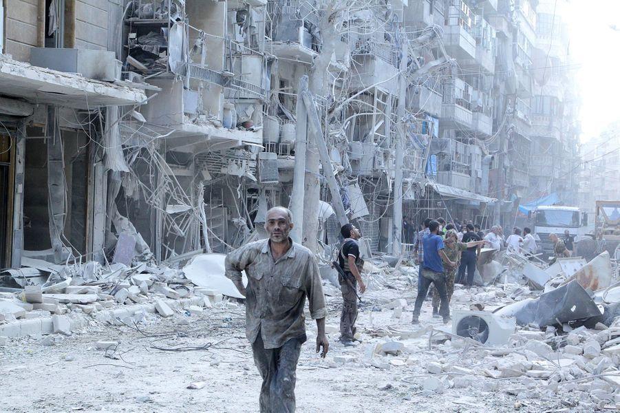 A Alep, la vie en ruines, le 17 septembre 2015