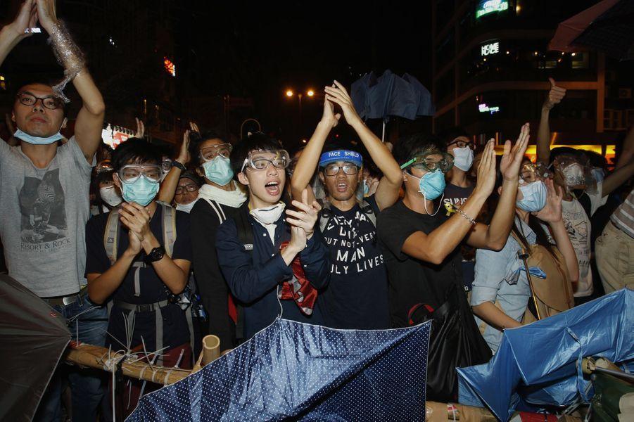 Les manifestations à Hong Kong, le 18 octobre