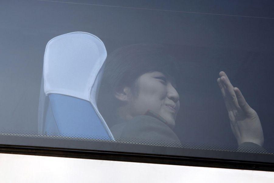 A Pékin, les chanteuses nord-coréennes s'apprêtent à se produire