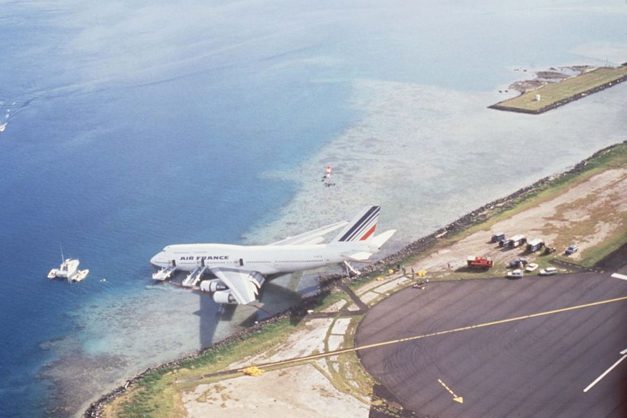 12 septembre 1993: un Boeing 747 d'Air France rate son atterrissage à Tahiti