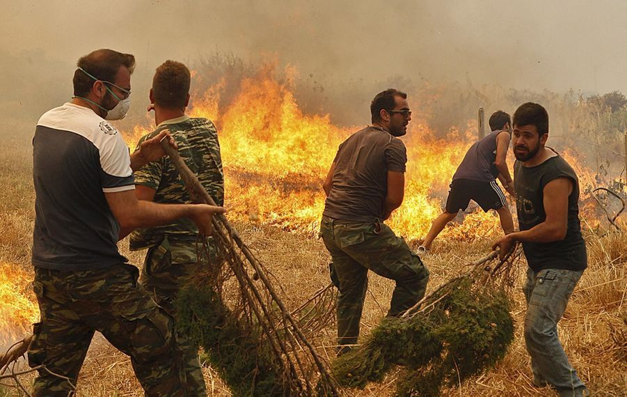 Athènes en feu