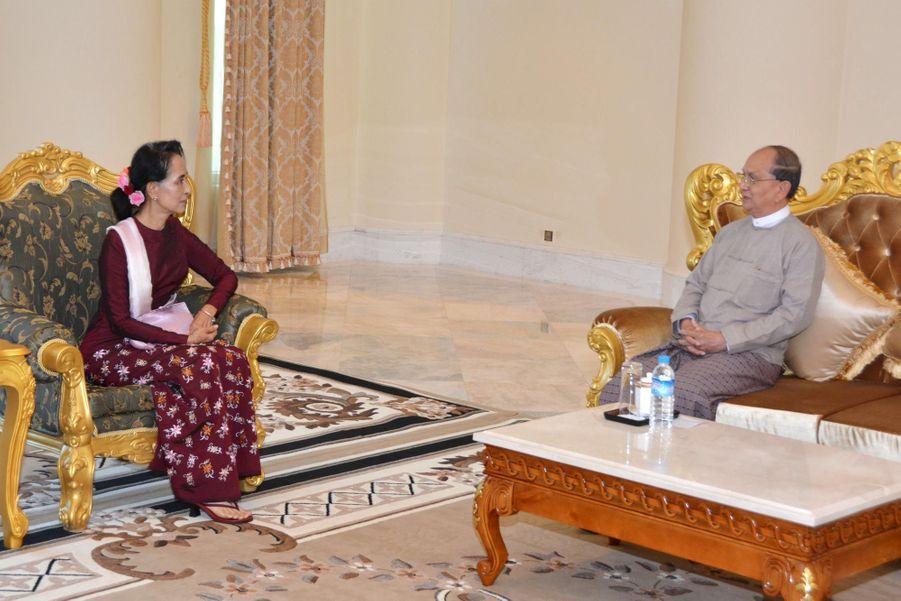 Aung San Suu Kyi et le président Thein Sein