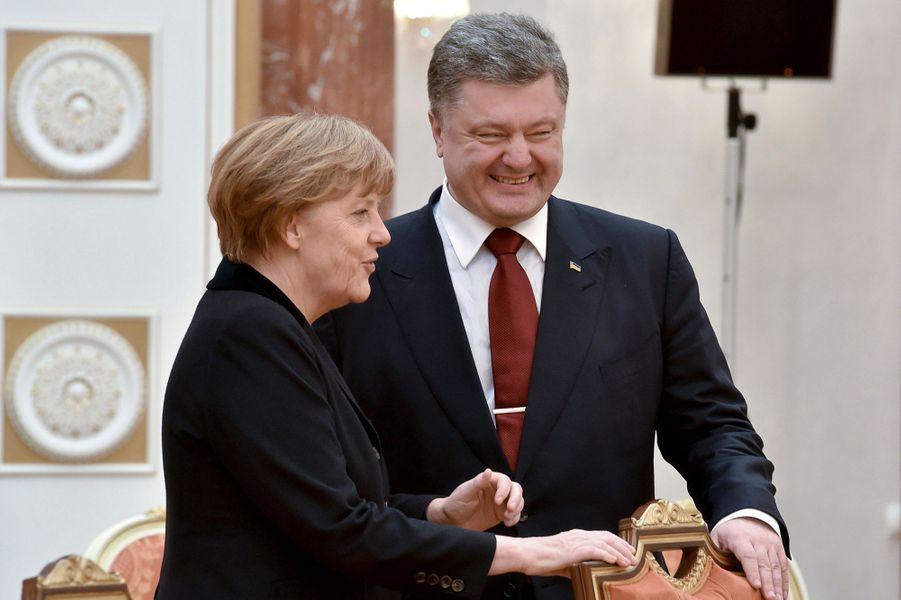 Angela Merkel et Petro Porochenko