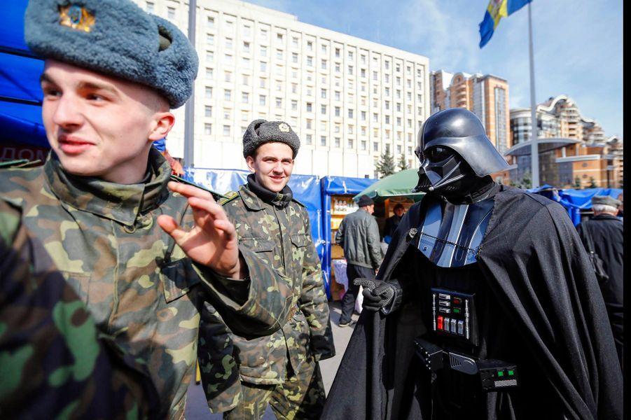 Dark Vador en campagne en Ukraine