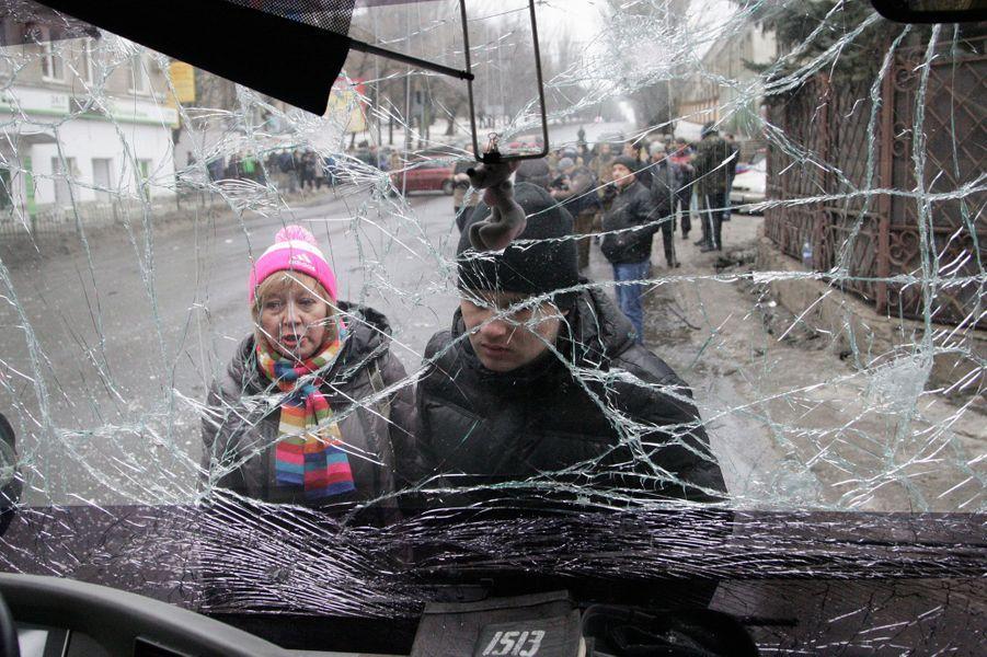 Treize personnes ont été tuées dans le bombardement au centre de Donetsk