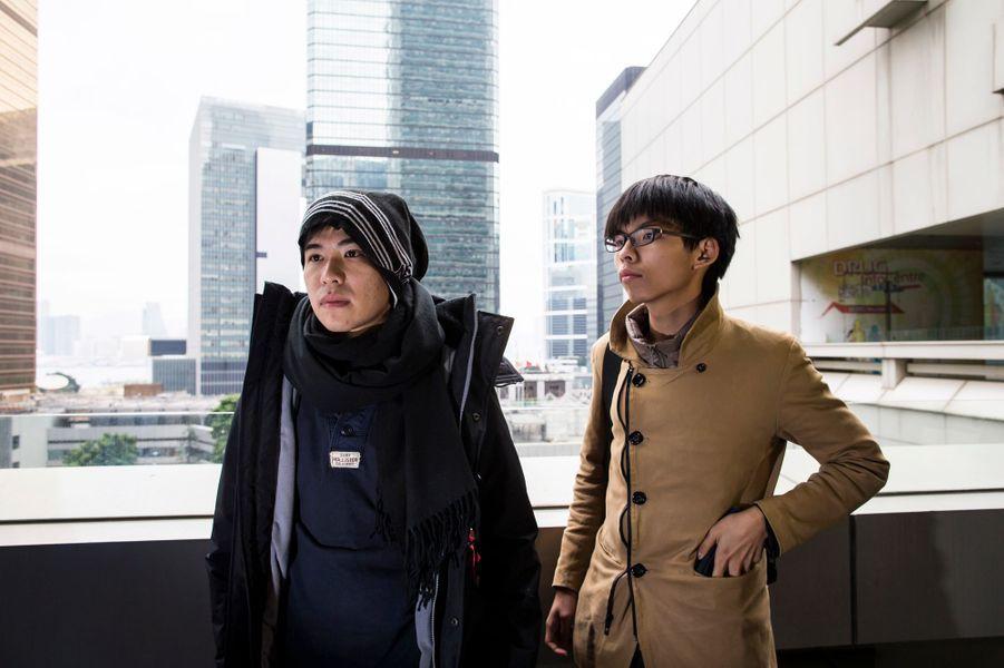 L'émergence de deux leaders Joshua Wong (à droite) et Lester Shum