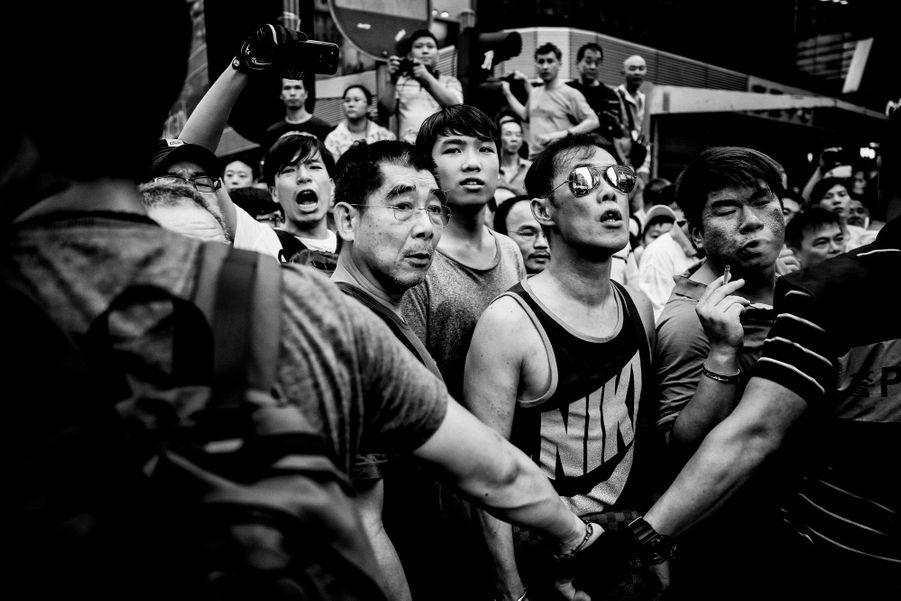 Dans le quartier de Mong Kok, vendredi 3 octobre