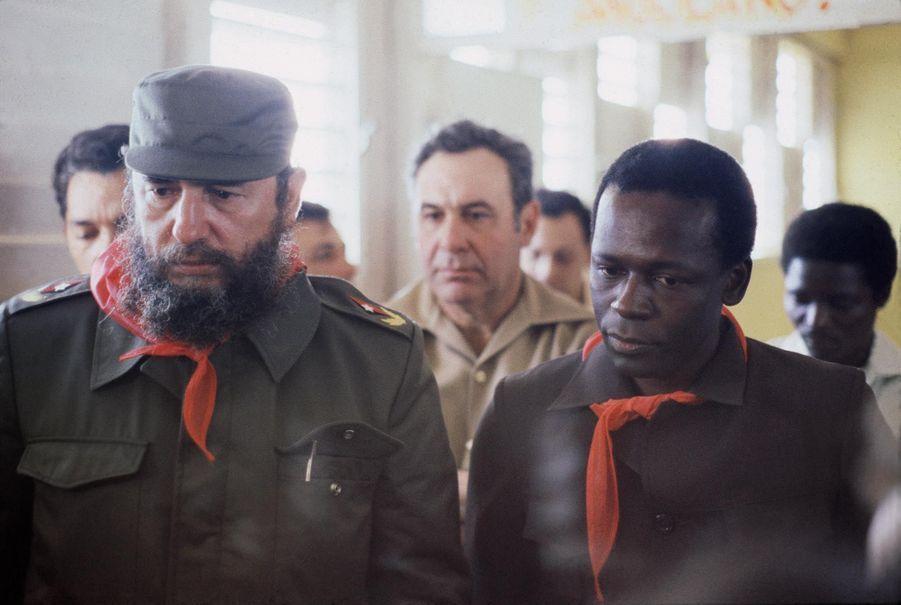Avec Fidel Castro en 1980