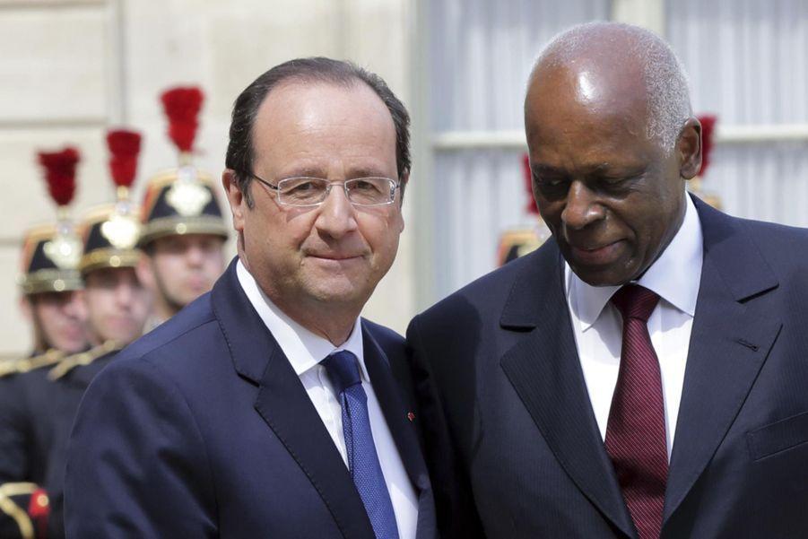 José Eduardo dos Santos avec françois Hollande en 2014