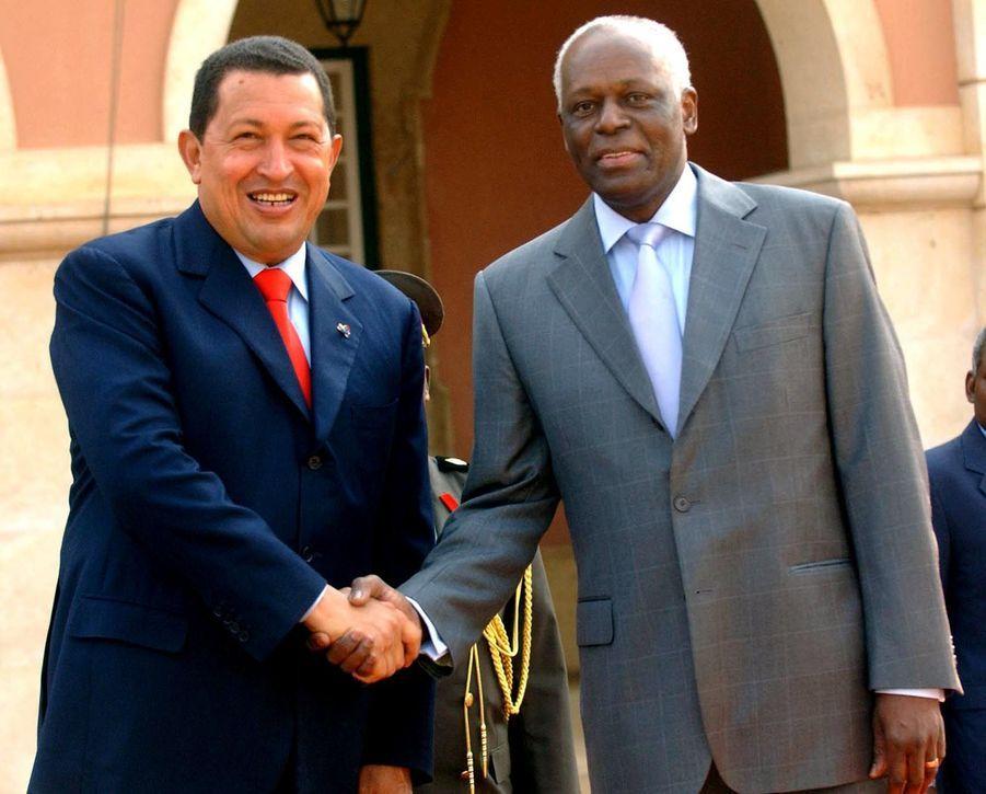 José Eduardo dos Santos avec Hugo Chavez en 2006