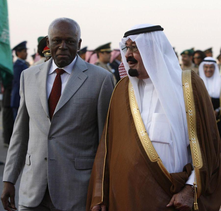 José Eduardo dos Santos avec le roi Abdallah en 2007