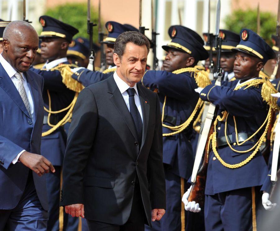 José Eduardo dos Santos avec Nicolas Sarkozy en 2008
