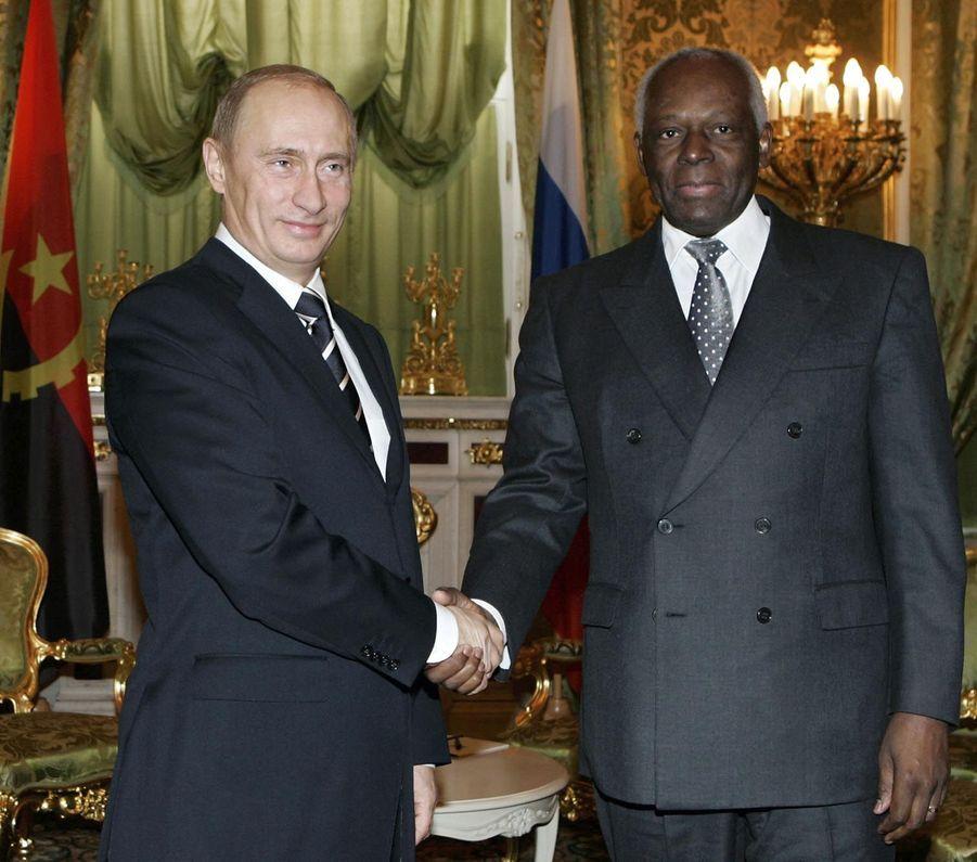 José Eduardo dos Santos avec Vladimir Poutine en 2006