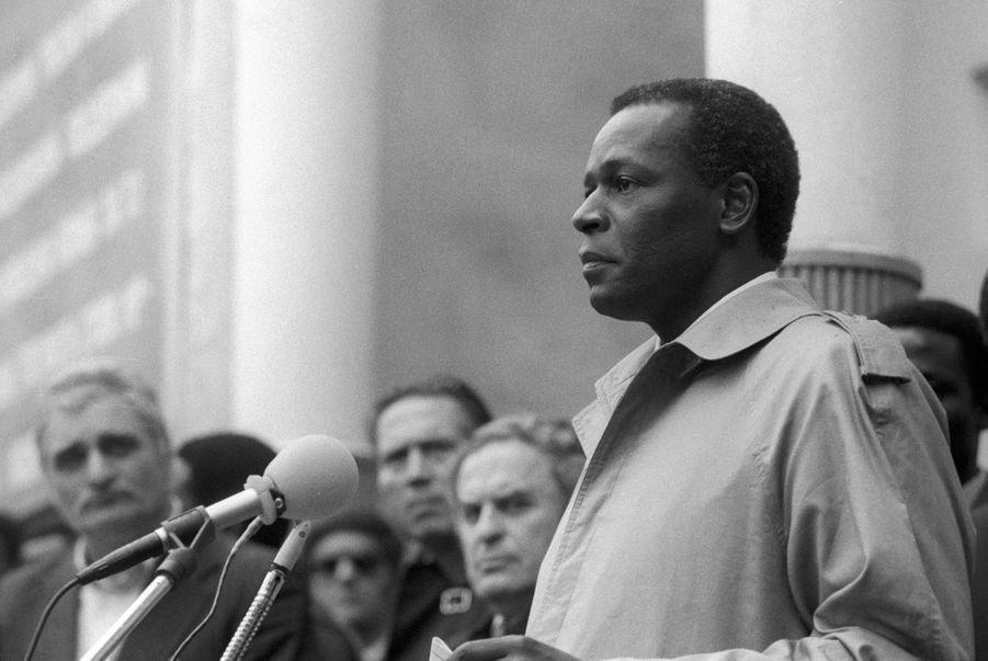 José Eduardo dos Santos lors d'un rassemblement sur l'amitié soviéto-angolaise en 1986