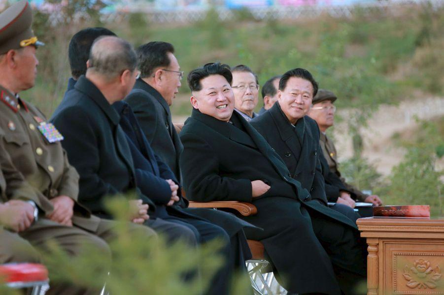 Le dictateur nord-coréen Kim Jong-un, photographié en octobre 2015 à un événement officiel