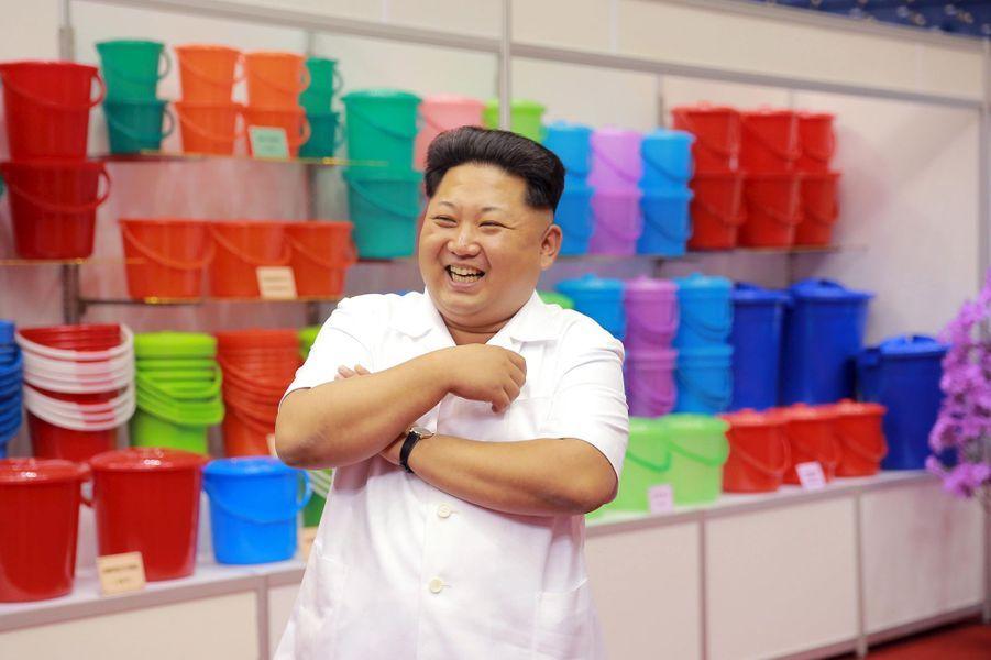 Le dictateur nord-coréen Kim Jong-un, photographié en septembre 2015 à une exposition