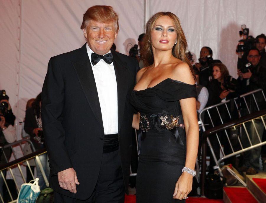 Donald Trump et sa femme Melania en mai 2009