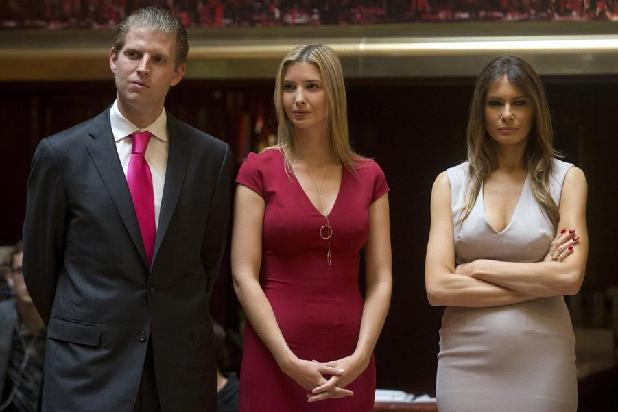 Eric, Ivanka et Melania Trump à une conférence en mai 2014