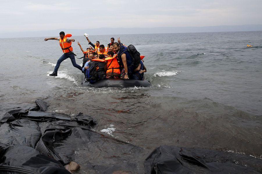 L'arrivée sur Lesbos, une nouvelle étape pour les réfugiés