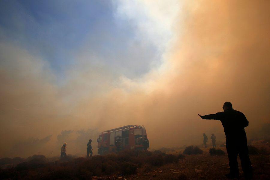 La Grèce ravagée par les flammes