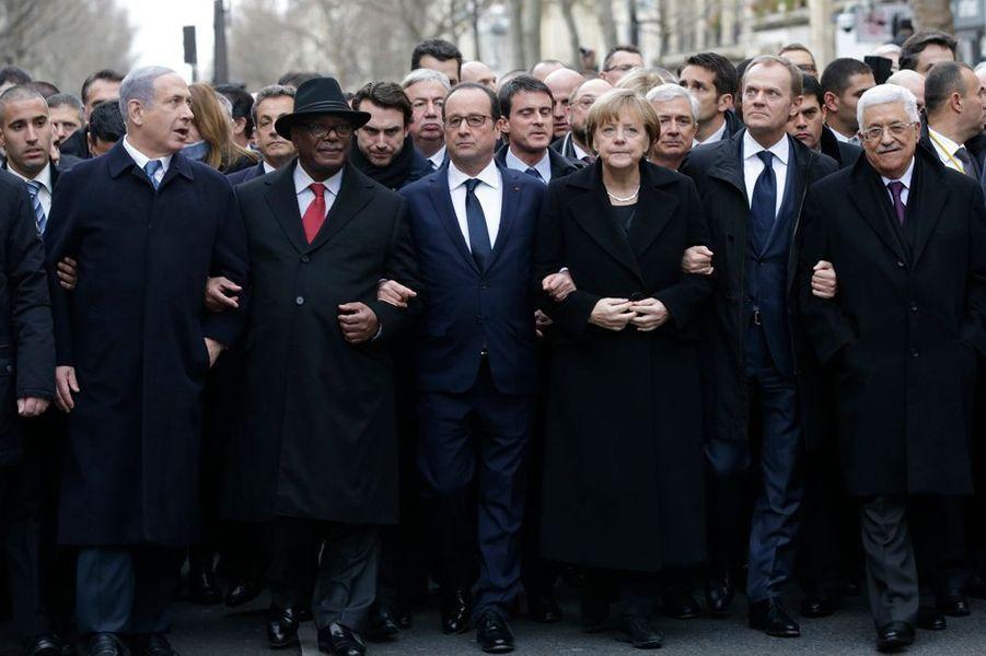 11 janvier. Les chefs d'Etat du monde entier à Paris