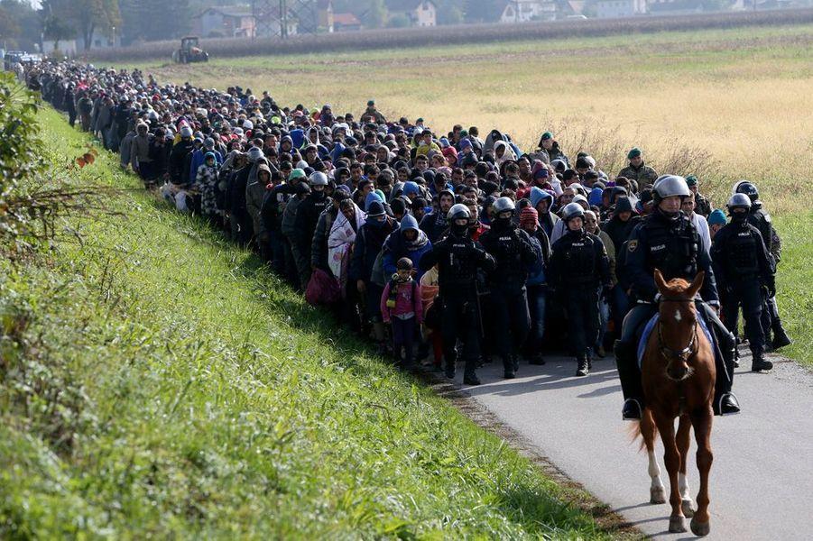 20 octobre. La marche des migrants à travers la Slovénie