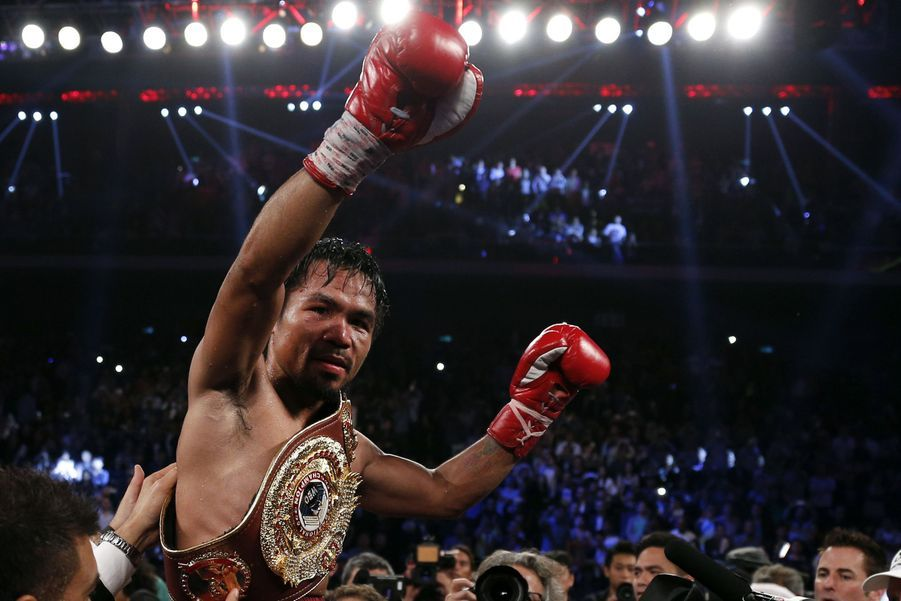 Manny Pacquiao victorieux