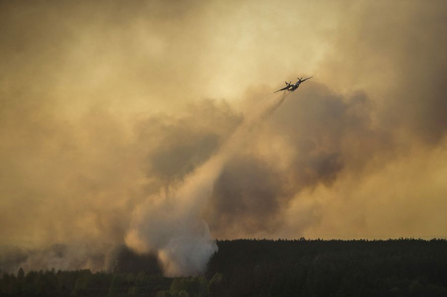 Le feu de forêt près de la centrale accidentée de Tchernobyl a été maîtrisé