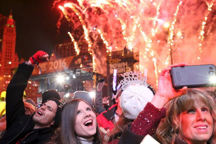 Célébrations de la nouvelle année 2016 à Chicago (Etats-Unis)