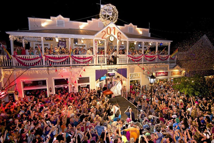 Célébrations de la nouvelle année 2016 à Key West (Etats-Unis)